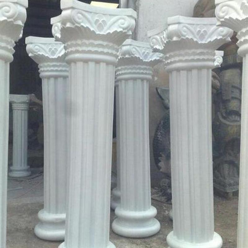 grc线条厂家施工之罗马柱施工